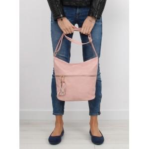 Dámska ružová kabelka na rameno s nádychom elegancie