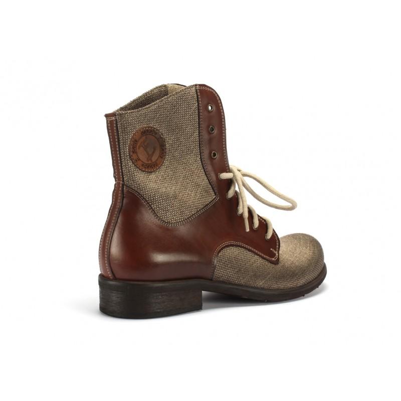 5e37d0869763 ... COMODO E SANO v hnedej farbe  Pánske zimné kotníkové kožené topánky ...