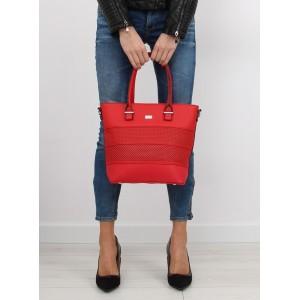 Moderná dámska kabelka do ruky v sýto červenej farbe