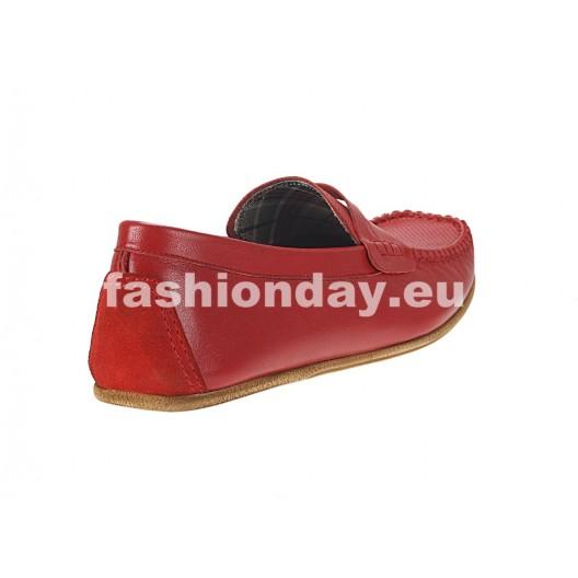 Pánske mokasíny červené ID: 550