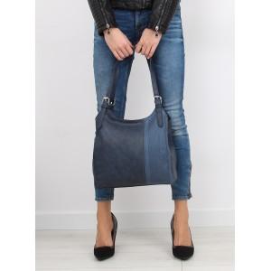 Dámska tmavomodrá kabelka do ruky s dvoma remienkami