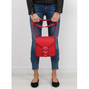Malá červená kabelka crossbody pre ženy