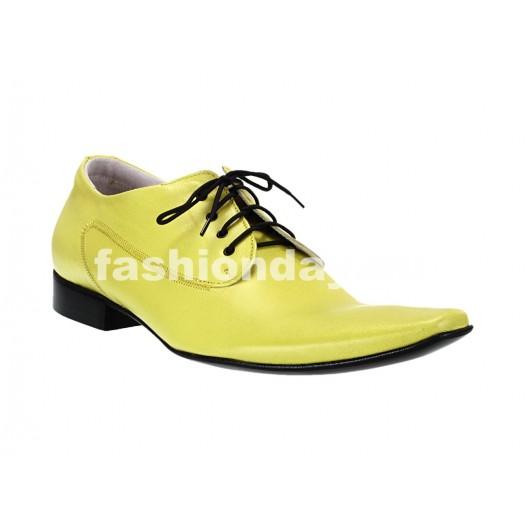 Pánske kožené extravagantné topánky žlté ID: 564