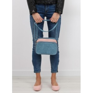 Malá dámska modro ružová kabelka crossbody