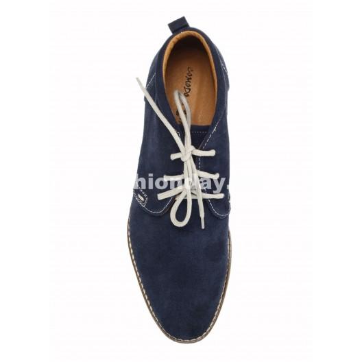Pánske kožené topánky modré ID: 559