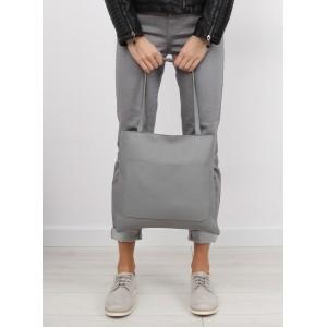 Dámska nákupná kabelka v sivej farbe s taštičkou navyše