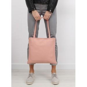 Ružová nákupná shopper kabelka s dvoma remienkami