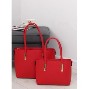 Set dámskych kabeliek do ruky v červenej farbe 2 v 1