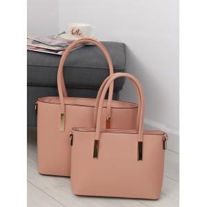 Dámska sada ružových elegantných kabeliek do ruky