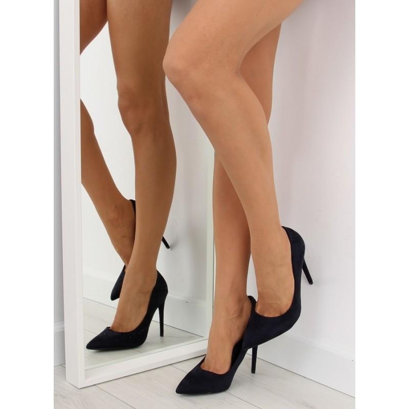 37af006cc5 Tmavomodré semišové lodičky pre ženy na vysokom podpätku - fashionday.eu