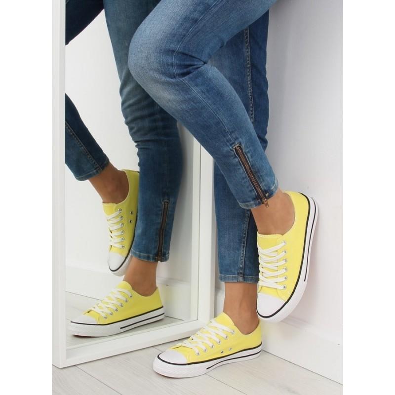 3a0d7eba8b6e Dámske moderné športové topánky na leto v žltej farbe - fashionday.eu