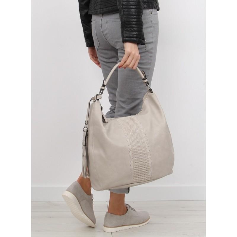 e3810d239d Dámske veľké priestranné kabelky do ruky v béžovej farbe - fashionday.eu