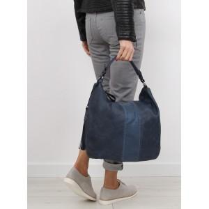 Tmavomodrá dámska kabelka s odnímateľným a nastaviteľným popruhom