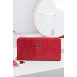Moderné červené peňaženky so zipsom pre elegantné dámy