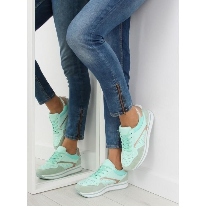 3beca121f Mätové športové topánky pre ženy so zlatou aplikáciou na vysokej ...