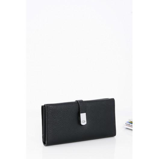 6947d9579 Klasická dámska peňaženka v čiernej farbe so zapínaním na magnet -  fashionday.eu