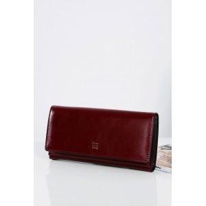 Elegantná bordová dámska peňaženka so zlatým zipsom vo vnútri