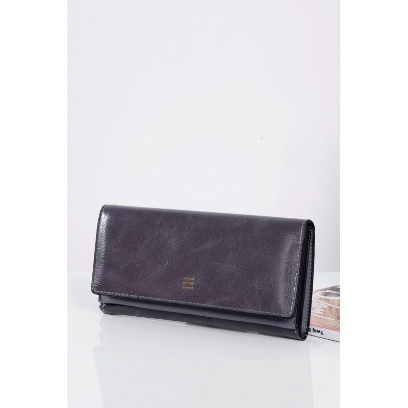 2c137f7bd18e Tmavo sivé dámske peňaženky s vnútorným zlatým zipsom - fashionday.eu