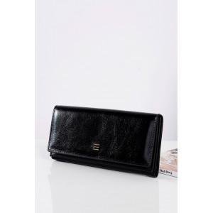 Elegantné čierne kožené peňaženky pre dámy