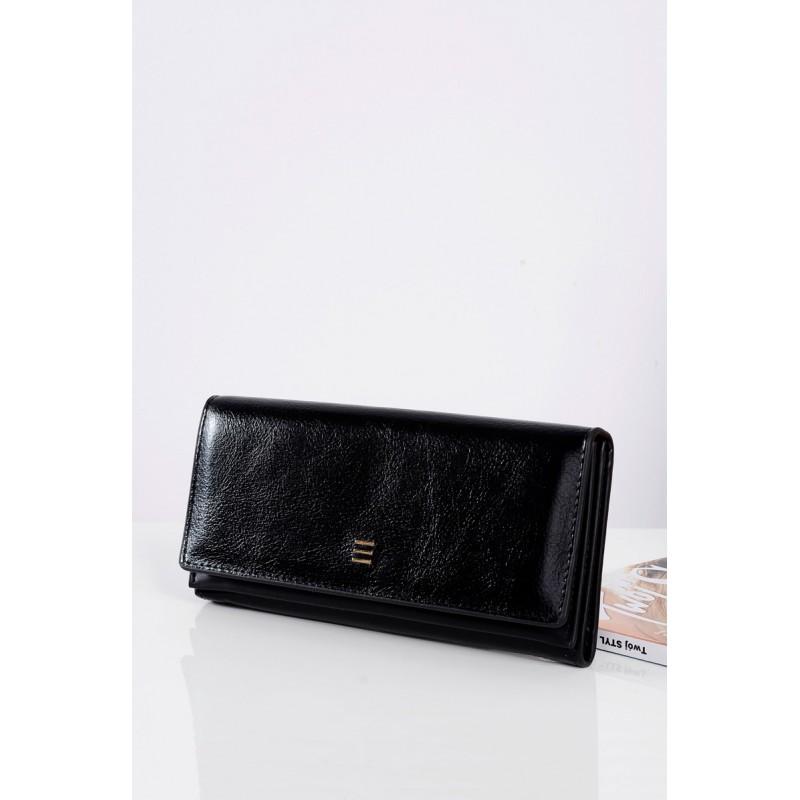 Elegantné čierne kožené peňaženky pre dámy - fashionday.eu 5cd41c711b9