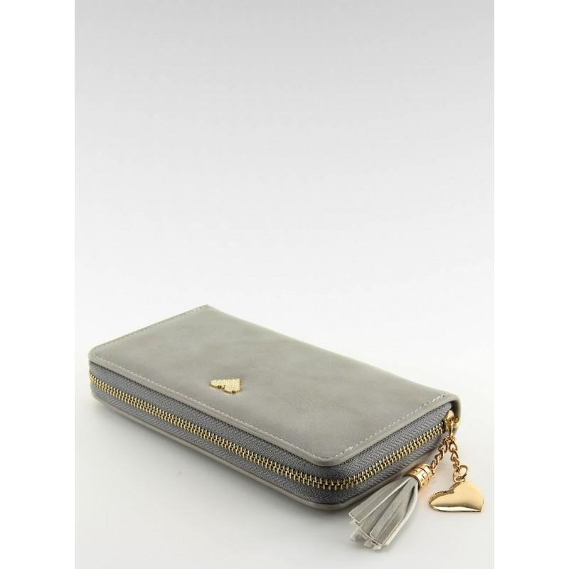 0a02108c4cce Predchádzajúci. Moderná dámska peňaženka na zips sivej farby ...
