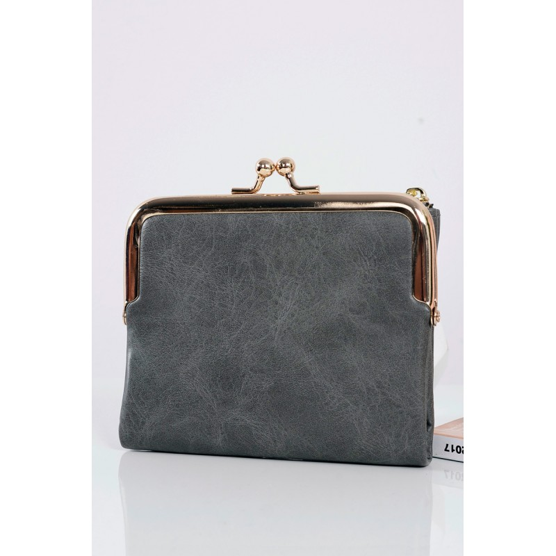 10926ae5c5 Predchádzajúci. Tmavo sivé malé kožené peňaženky pre dámy ...