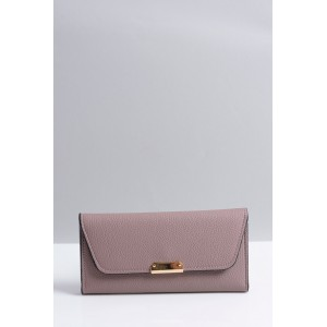 Svetlo fialová veľká dámska peňaženka so zapínaním na cvok