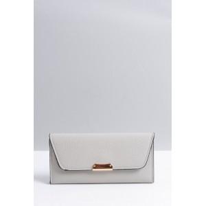 Elegantné sivé dámske peňaženky s čiernym lemovaním