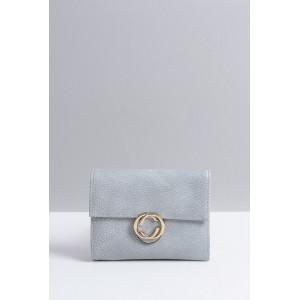 Sivé dámske peňaženky so zlatým bočným zipsom