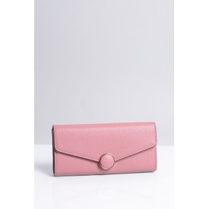 Elegantná ružová dámska peňaženka s magnetickým zapínaním