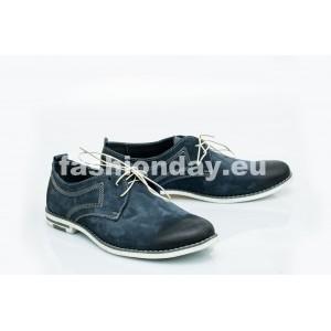 Pánske kožené topánky modré PT1200