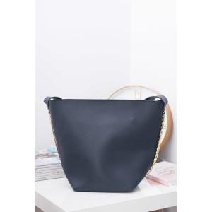 Tmavo modré dámske kabelky shopper s malou kozmetickou taštičkou