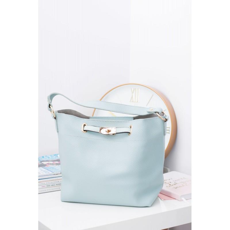 1e9263324b Svetlo modrá dámska kabelka na rameno s malou kozmetickou taškou ...
