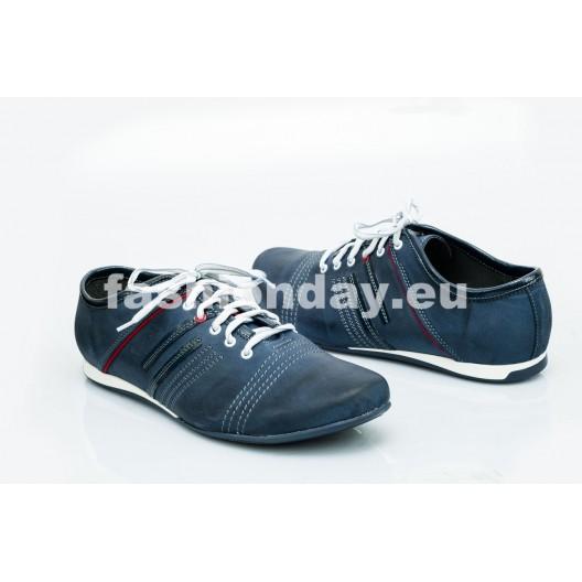 Pánske kožené topánky modré PT1500