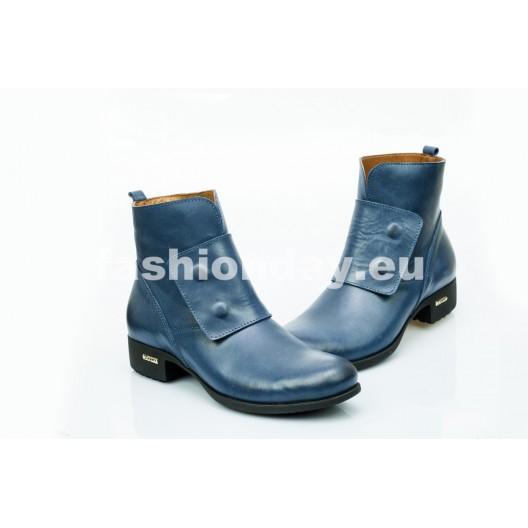 Dámske kožené topánky tmavo modré DT476