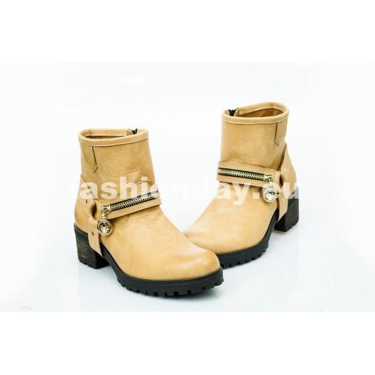 Dámske kožené topánky pieskové  DT452