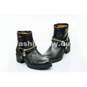 Dámske kožené topánky čierne DT452
