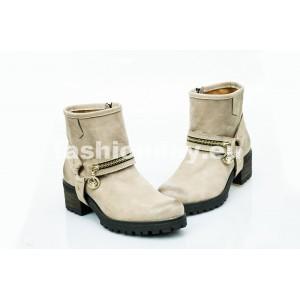 Dámske kožené topánky cappuccino DT452