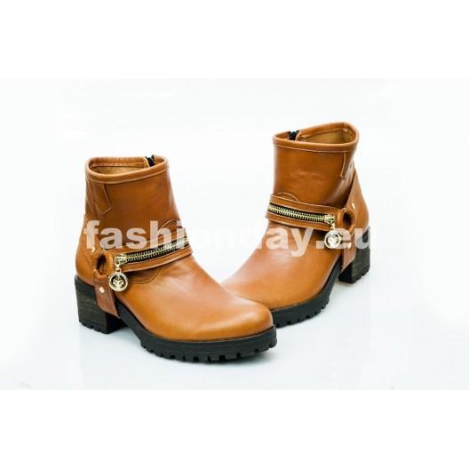 Dámske kožené topánky hnedé DT452