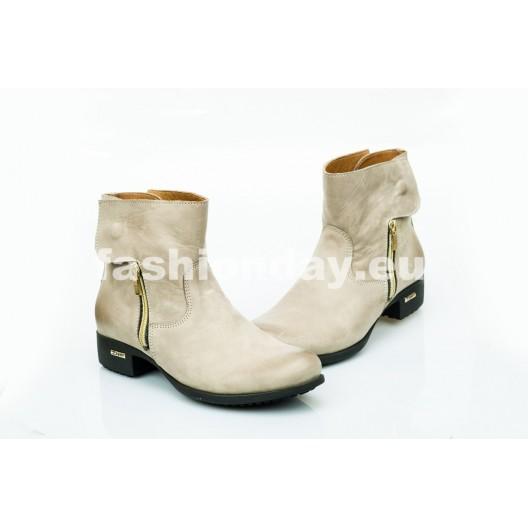 Dámske kožené topánky cappuccino DT475