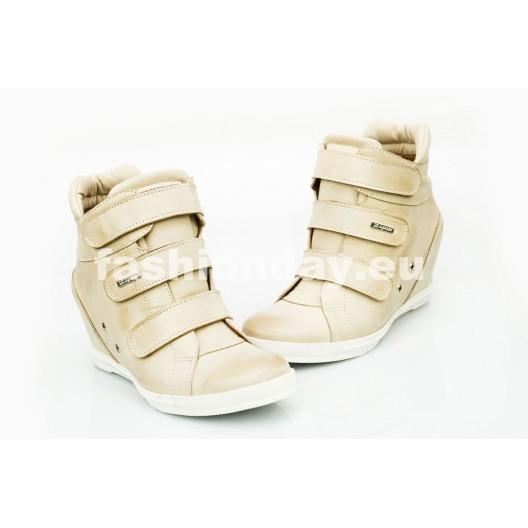 Dámske kožené topánky béžové DT224