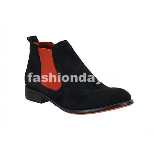 Pánske kožené topánky čierne ID: 571