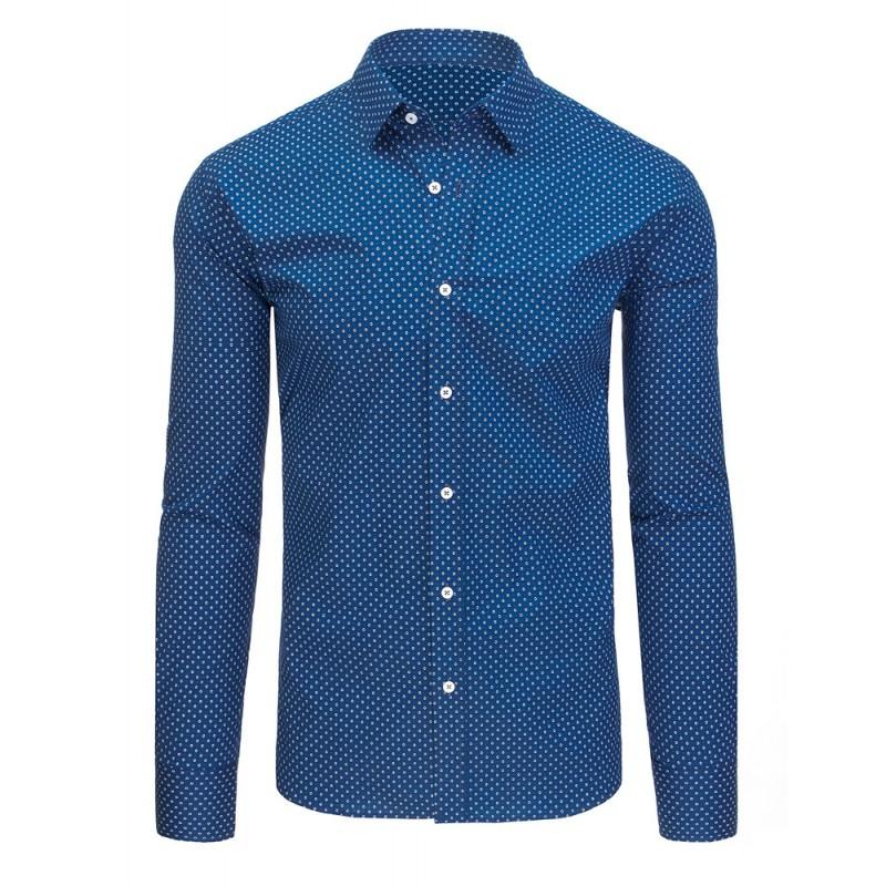 428730e8d1ab Predchádzajúci. Moderné pánske košele s dlhým rukávom modrej farby a strihu  slim fit ...