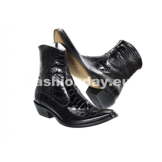 Pánske kožené kovbojky čierne ID: 570