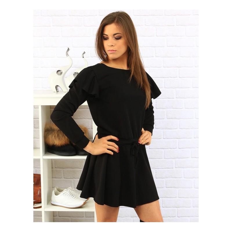 Predchádzajúci. Čierne dámske elegantné šaty krátke ... 324079c48da
