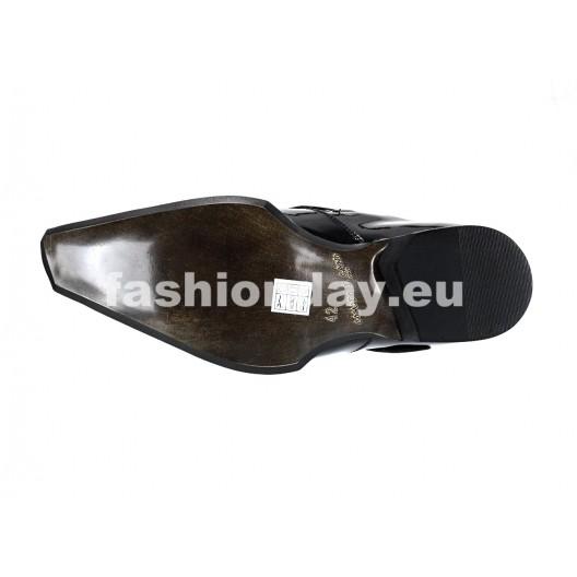 Pánske mokasíny lesklé čierne ID: 565
