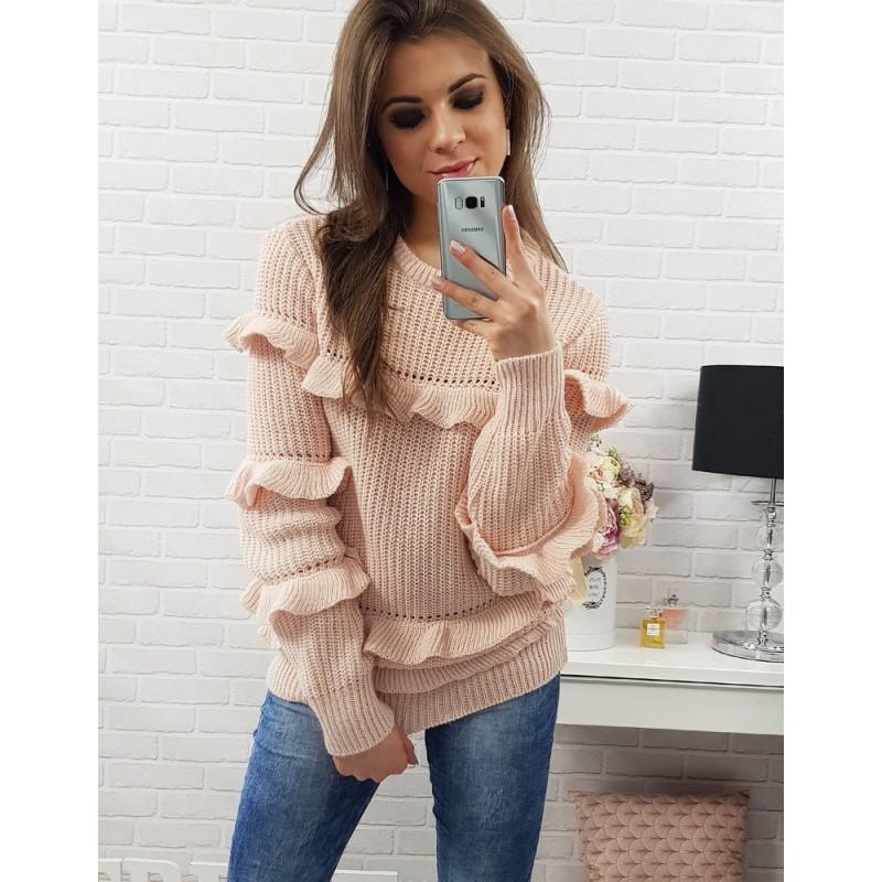c06ee1294c98 Predchádzajúci. Ružové dámske pletené svetríky s dlhými rukávmi ...