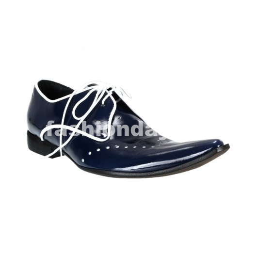 Pánske kožené extravagantné topánky modré ID: 562