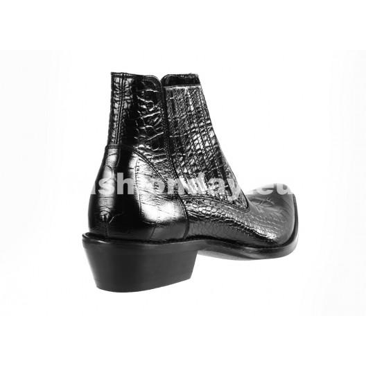 Pánske kožené kovbojky čierne ID: 460