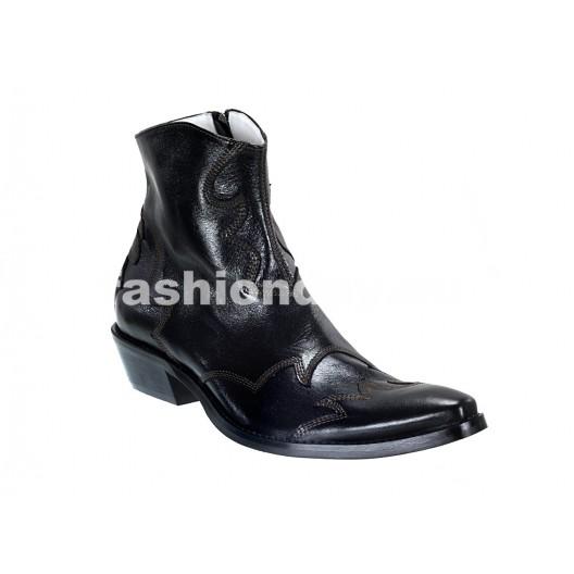 Pánske kožené kovbojky čierne ID: 581